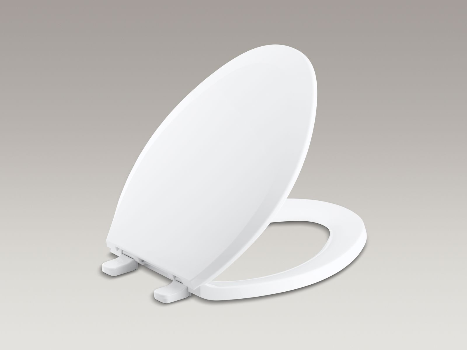 Lustra™ elongated closed-front anti-microbial toilet seat with Q2 Advantage™ Quick-Release™, Quick-Attach® and cover