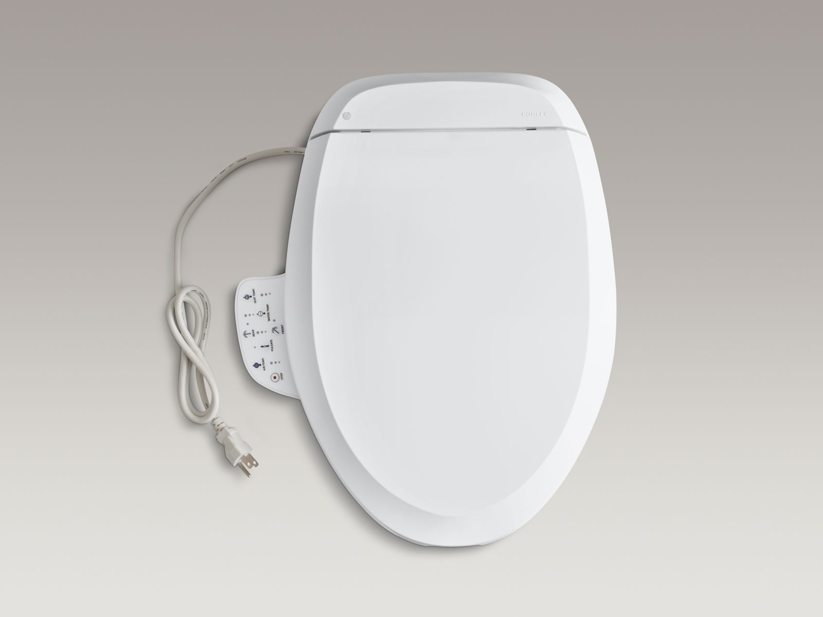 C3®-125 elongated closed-front toilet seat with bidet functionality and side controls - includes tank heater