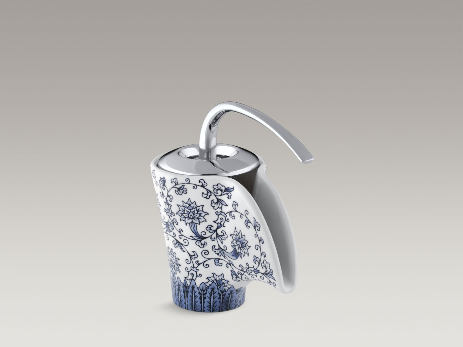 Imperial Blue™ design on Vas® ceramic faucet with lever handle