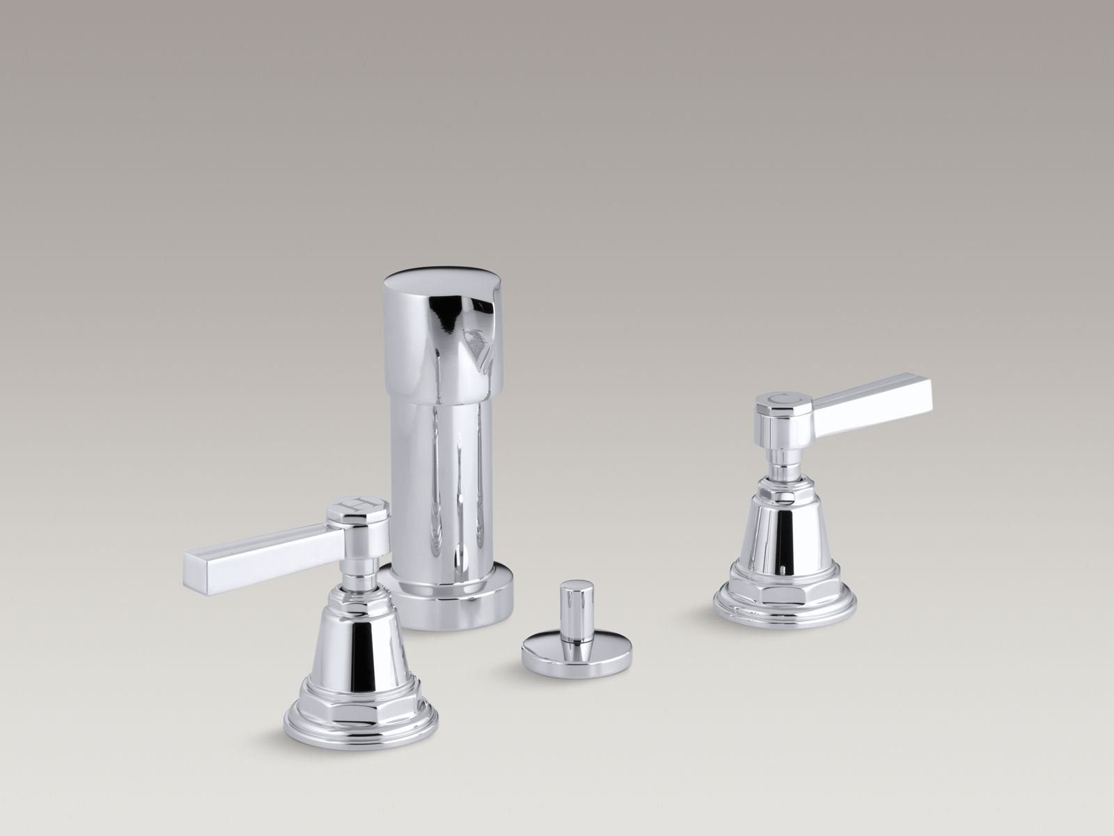 Pinstripe® vertical spray bidet faucet with lever handles