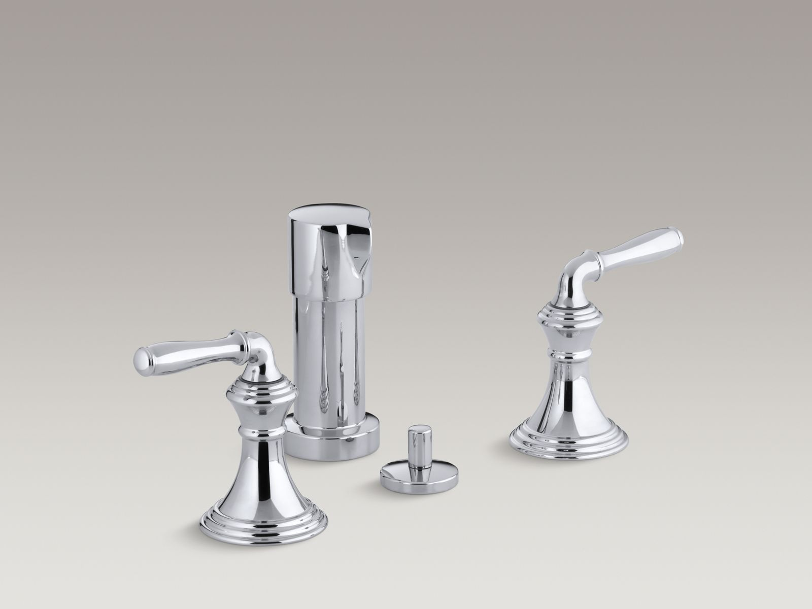 Devonshire® vertical spray bidet faucet with lever handles