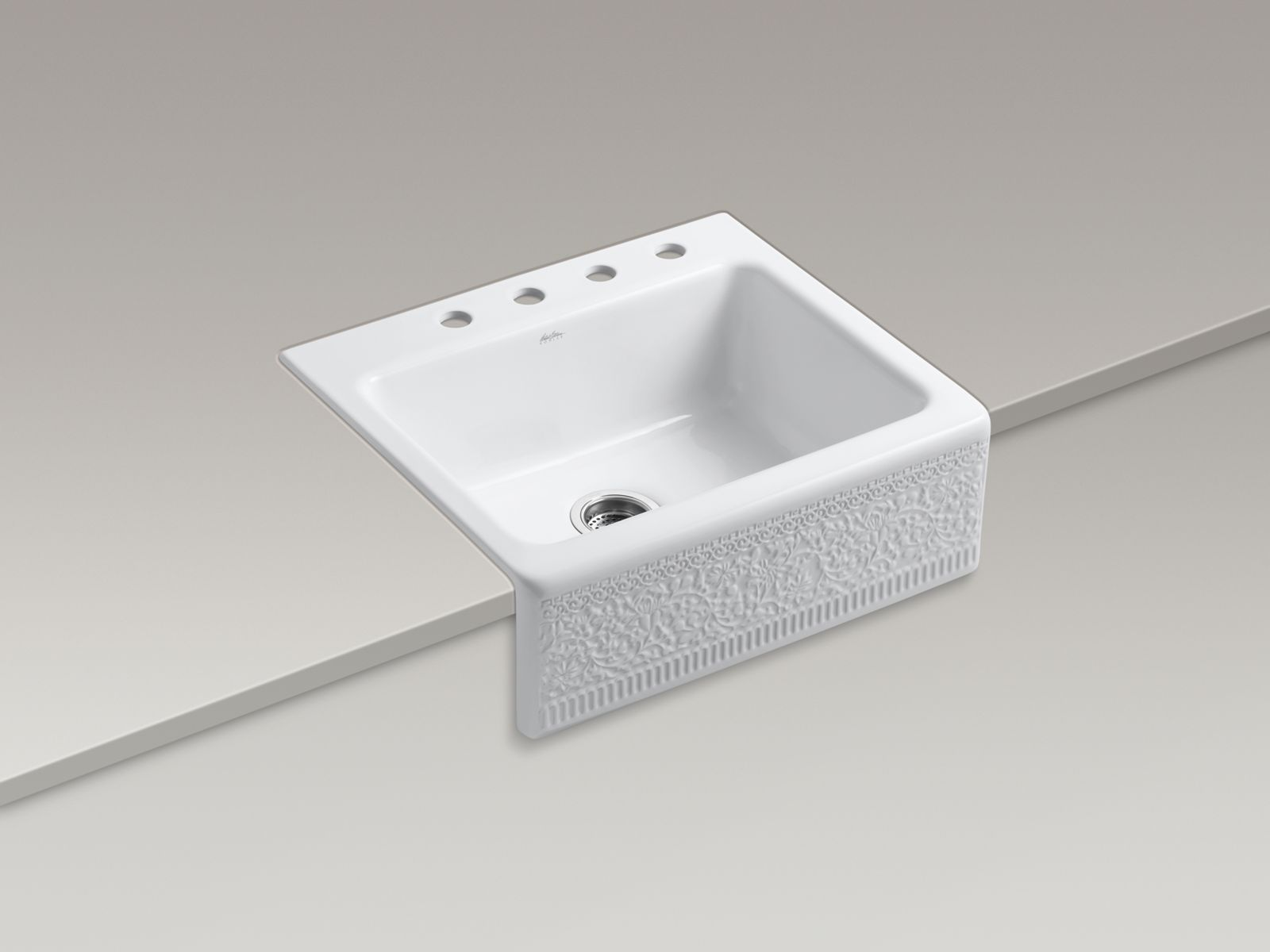 Shown with Duostrainer® sink strainer K-8801-CP, not included.
