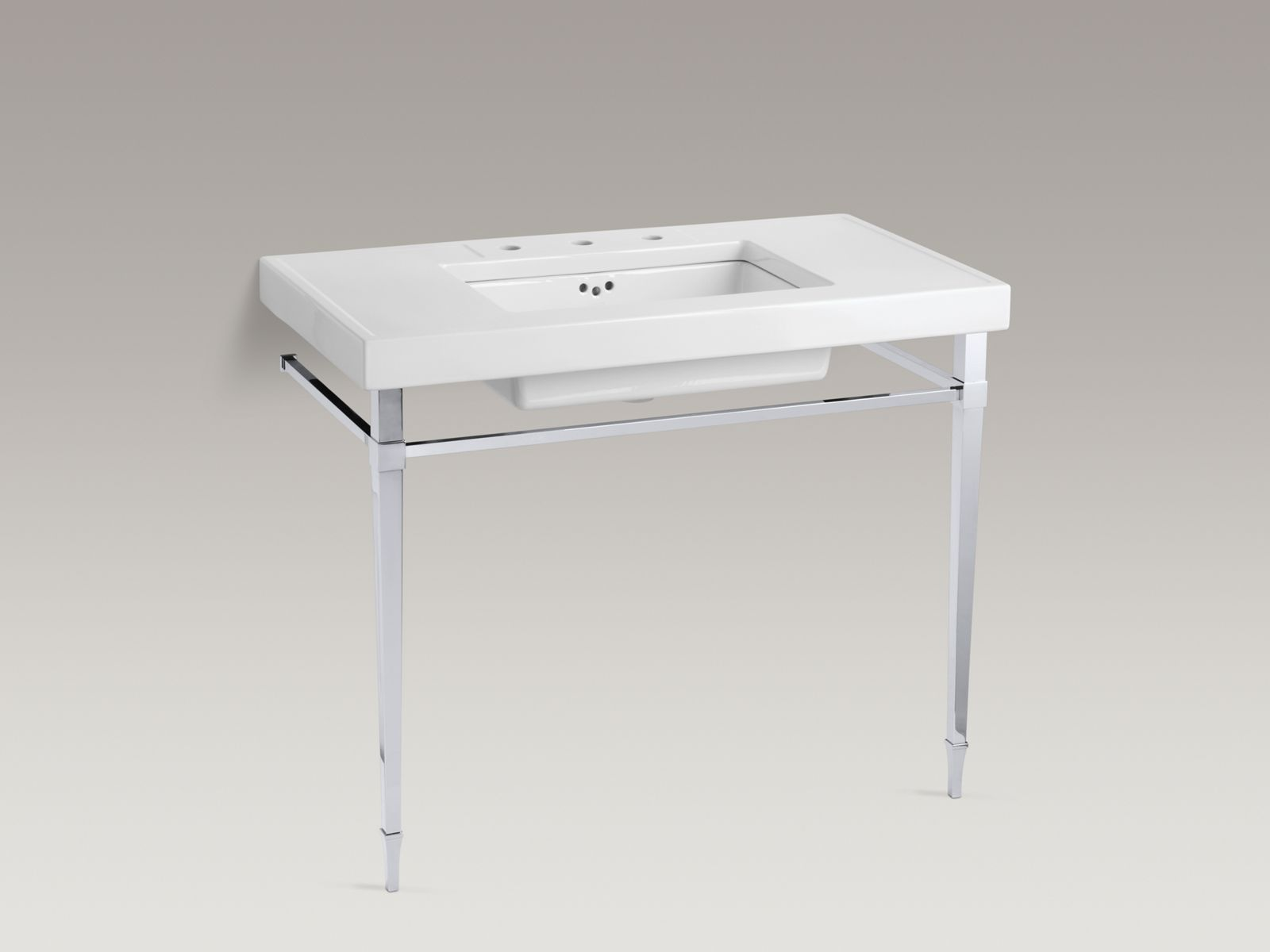 Shown with Kathryn® tabletop K-3028-K2, Kathryn lavatory K-2297-G-7 and standard pop-up drain, not included.