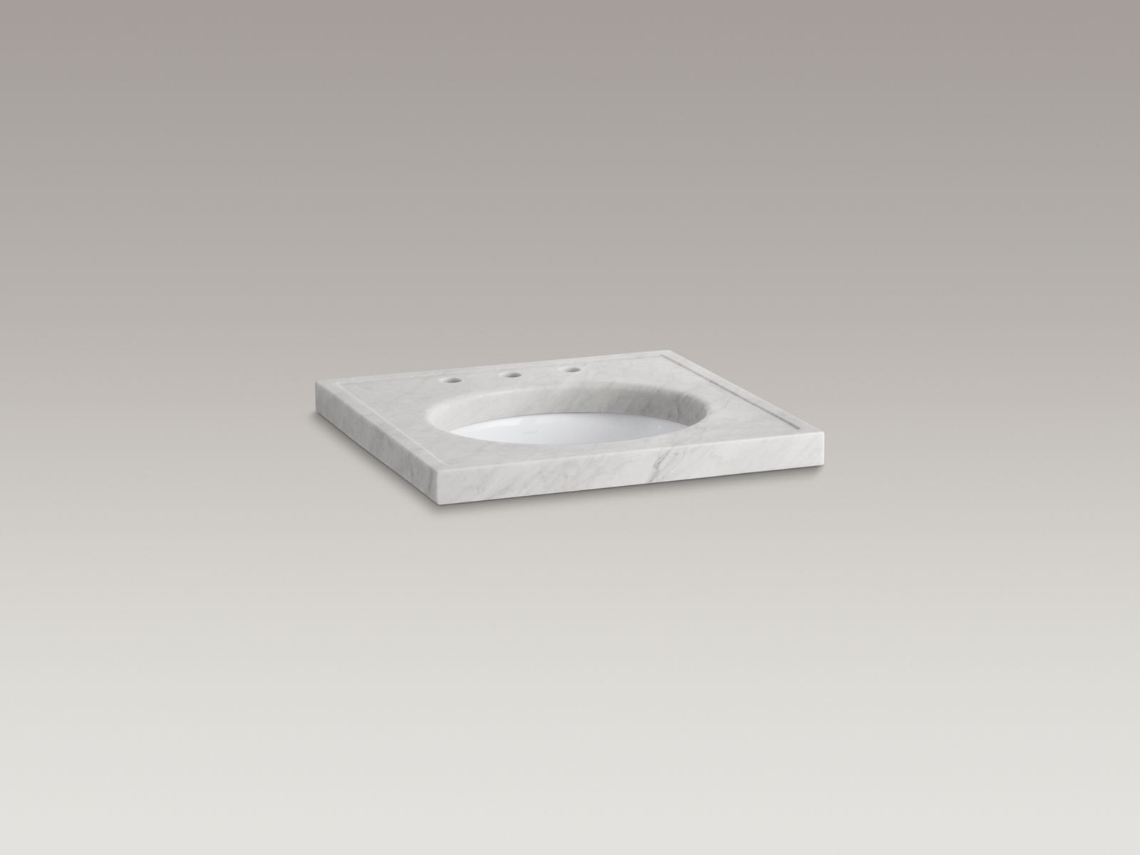 Shown with Caxton® lavatory K-2210-G-0 and standard pop-up drain, not included.