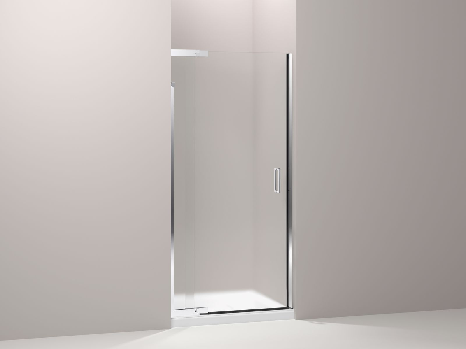"Purist® frameless pivot shower door with 1/4"" thick Frosted glass, 30"" - 33"" x 72"""