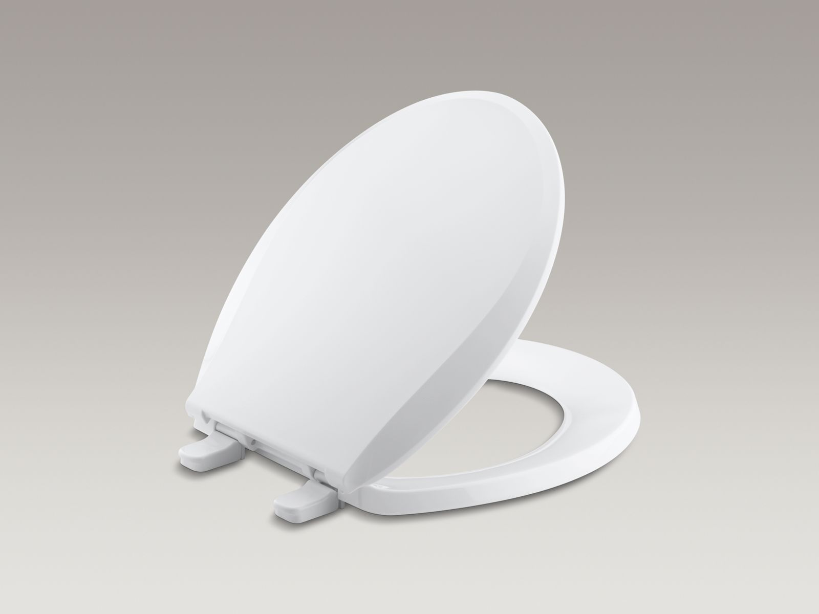Cachet® round closed-front toilet seat with cover and plastic hinges with Q2 Advantage™ Quick-Release™, Quick-Attach®