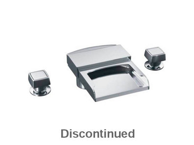 Alterna? deck-mount high-flow bath faucet with square handles and ...