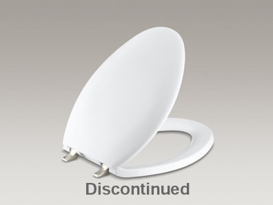 Bancroft® elongated closed-front toilet seat with Vibrant® Polished Nickel hinges