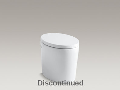 Purist® Hatbox® one-piece elongated 1.6 gpf toilet with Quiet-Close™ toilet seat and cover