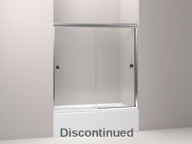 Devonshire® frameless sliding bath door with 1/4