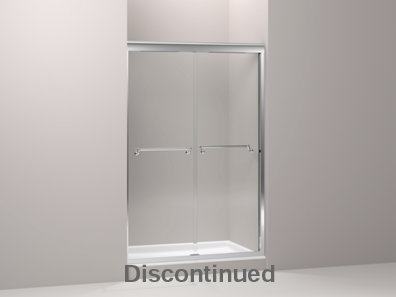 Portrait® frameless sliding shower door with 3/8
