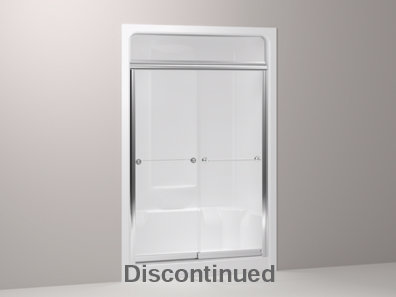 Senza® frameless sliding shower steam door for Sonata® shower stall with 1/4