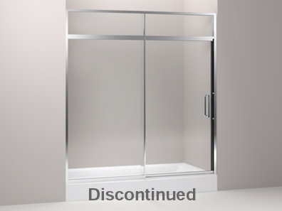 Lattis® semi-frameless pivot shower door with sliding steam transom with 1/4