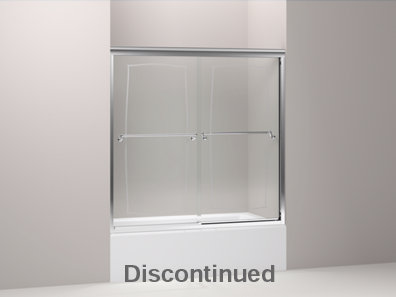 Portrait® frameless sliding bath door with 1/4