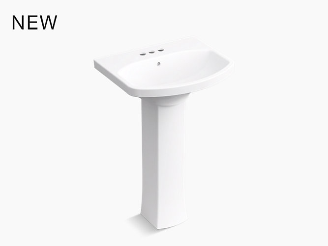 Kohler Elmbrook 8 In Widespread 2 Handle Bathroom Faucet: Elmbrook™ Pedestal Bathroom Sink With 4
