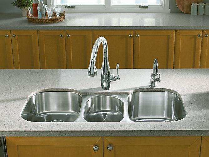 Undertone Triple Bowl Under Mount Kitchen Sink K 3166 L Kohler