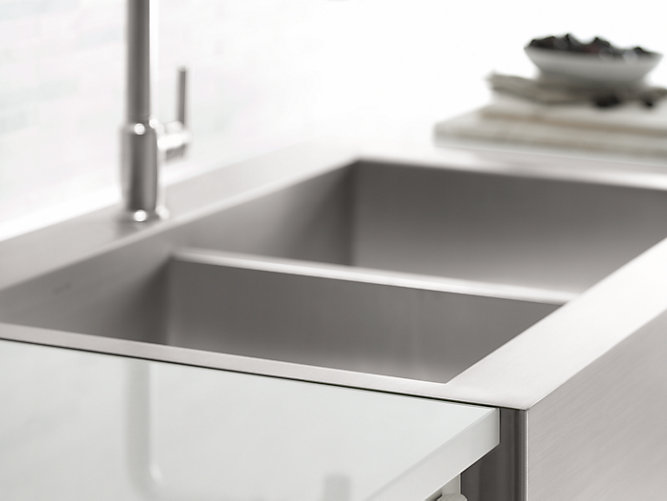 Vault Top-Mount Kitchen Sink With Single Faucet