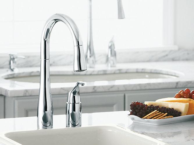 K 649 Simplice Single Handle Kitchen Sink Faucet Kohler