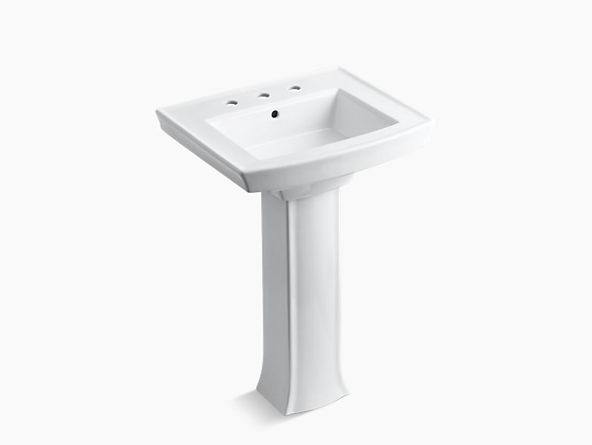 Archer Pedestal Sink With 8 Inch Centers K 2359 8 Kohler