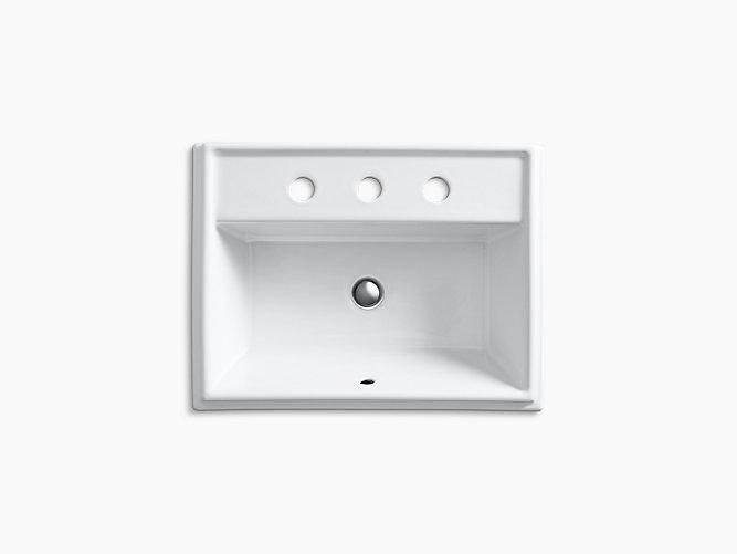 K 2991 8 Tresham Rectangular Drop In Sink With 8 Inch Widespread Kohler
