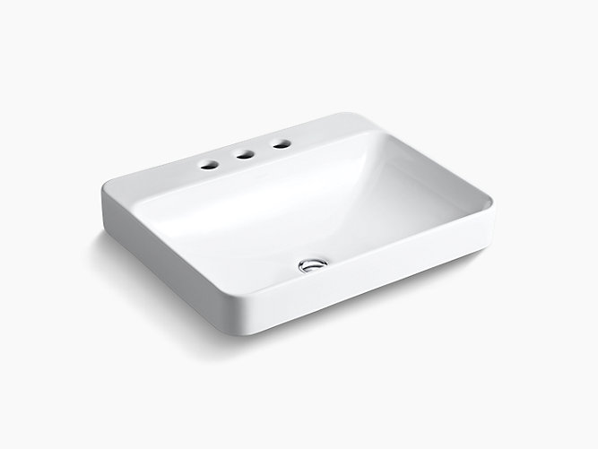 K 2660 8 Vox Rectangle Vessel Sink With 8 Inch Centers