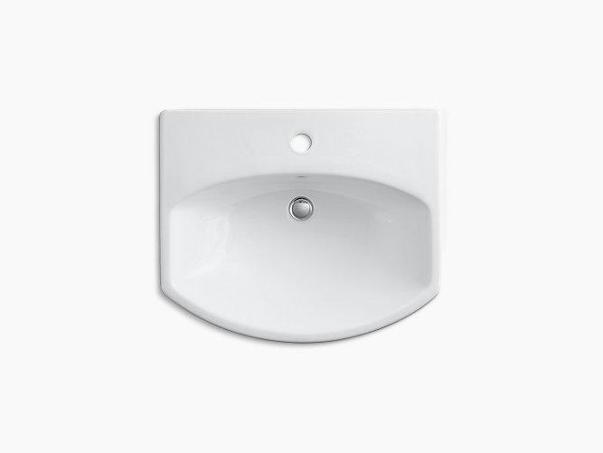 Cimarron Pedestal Sink With Single Faucet Hole K 2362 1