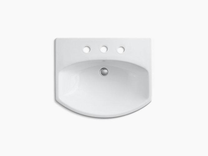 Cimarron Pedestal Sink With 8-Inch Centers
