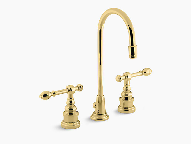 iv georges brass widespread sink faucet k 6813 4 kohler