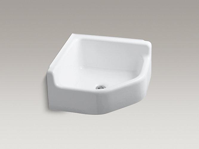 Whitby Floor Mounted Corner Service Sink K 6710 Kohler