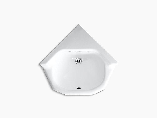 Marston Wall Mounted Shelf Back Corner Commercial Bathroom Sink K 2766 Eh Kohler