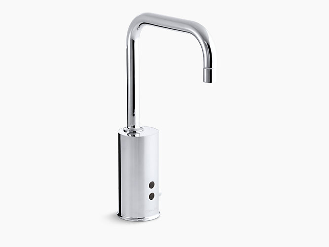 Gooseneck Single Hole Touchless Ac Powered Commercial Faucet With Insight Technology And