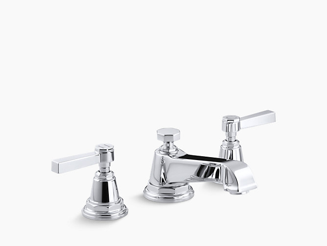 Pinstripe widespread sink faucet with pure design k - Kohler two tone bathroom faucets ...