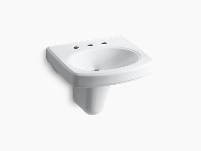 Pinoir Wall Mount Sink With 8 Inch Centers K 2035 8 Kohler