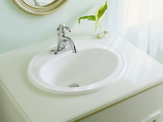 Pennington drop in sink with single faucet hole k 2196 1 - How to replace a drop in bathroom sink ...