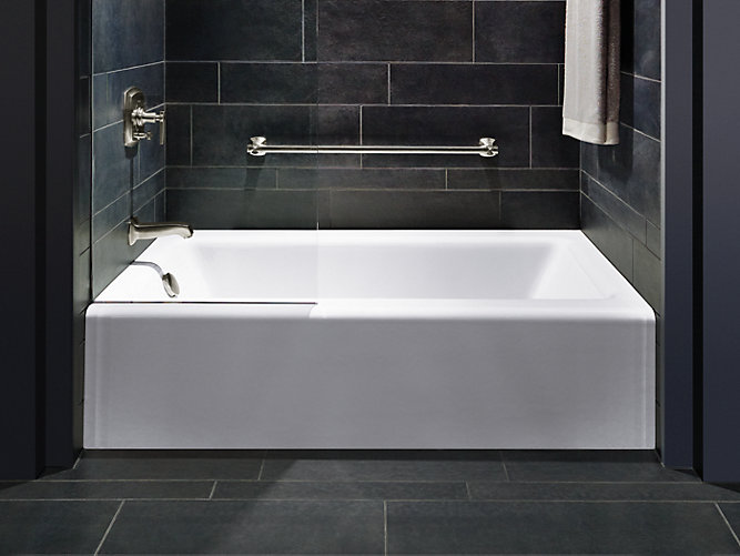 Bellwether 60 x 32 alcove bath with integral apron and for Low height bathtub