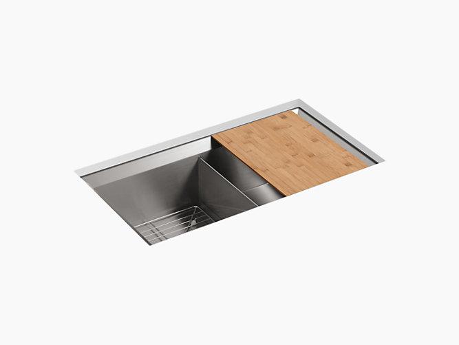 Poise Under Mount Double Bowl Kitchen Sink K 3159 Kohler