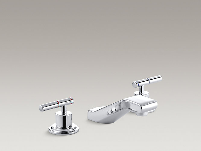 Taboret widespread commercial bathroom sink faucet requires handles k 8212 k kohler for Commercial bathroom sink faucet