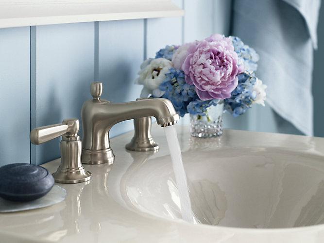 Shop Classic High Spout Oil Rubbed Bronze Bathroom Faucet: Bancroft Widespread Sink Faucet, Metal Lever Handles