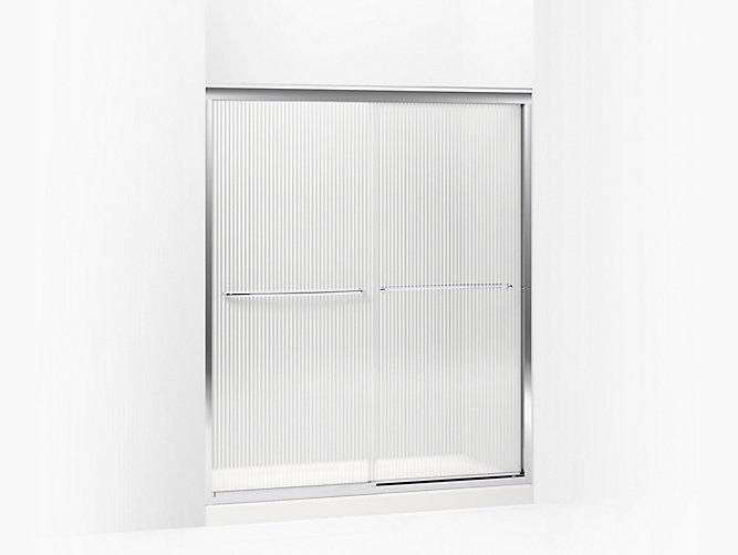 Fluence Frameless Sliding Shower Door with 1/4-Inch Glass   K ...