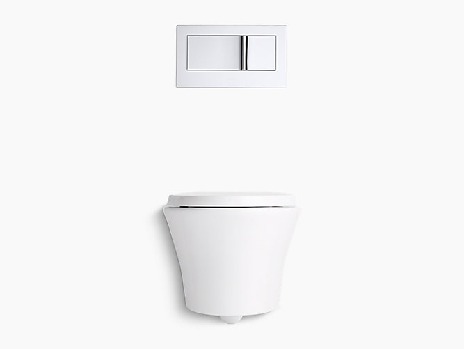 Front Elevation Of Wc : K veil wall hung toilet with reveal seat kohler