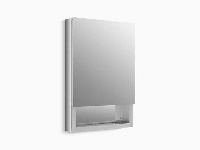 K 99005 L Verdera Medicine Cabinet With Quick Access Storage Left Swing Kohler