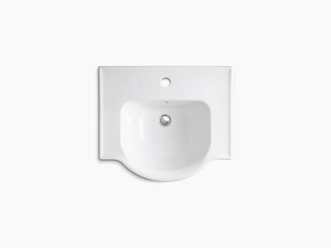 Veer Pedestal Sink With Single Faucet Hole K 5265 1 Kohler