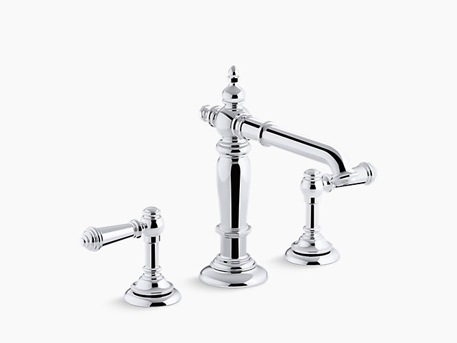 K 72760 artifacts bathroom sink spout with column design - Kohler two tone bathroom faucets ...