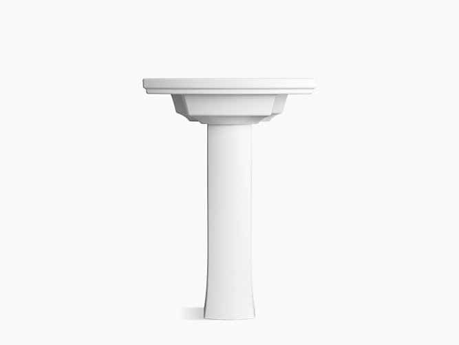 Elliston Pedestal Bathroom Sink, 4-Inch