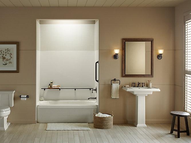 K 97608 choreograph 60 x 72 inch wall panel kohler for Template for bathroom design