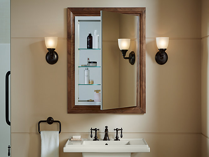 Share your style #KohlerIdeas - K-99007 Verdera Medicine Cabinet With Magnifying Mirror KOHLER