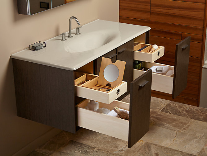 K 99544 Sd Jute 48 Inch Vanity With 2 Doors 2 Drawers