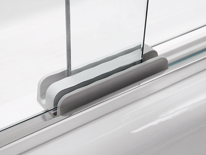 K 707001 L Revel Frameless Sliding Bath Door Kohler