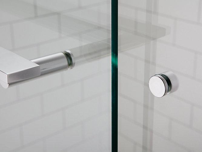 K-707100-L | Revel Frameless Sliding Shower Door | KOHLER