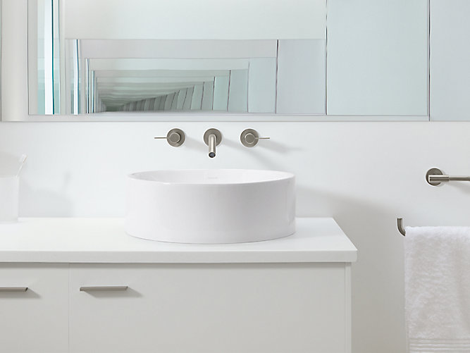 K 14800 vox round vessel sink kohler for Are vessel sinks out of style